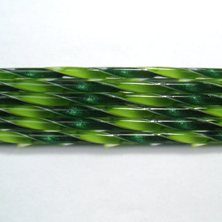 C231 Aventurine Green and Spring Green Ribbon Cane COE 90 Glass