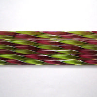 C232 Fuscia and Spring Green Ribbon Cane COE 90 Glass