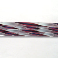 C325 Fuscia, Midnight Blue, and White Streamer Cane COE 90 Glass