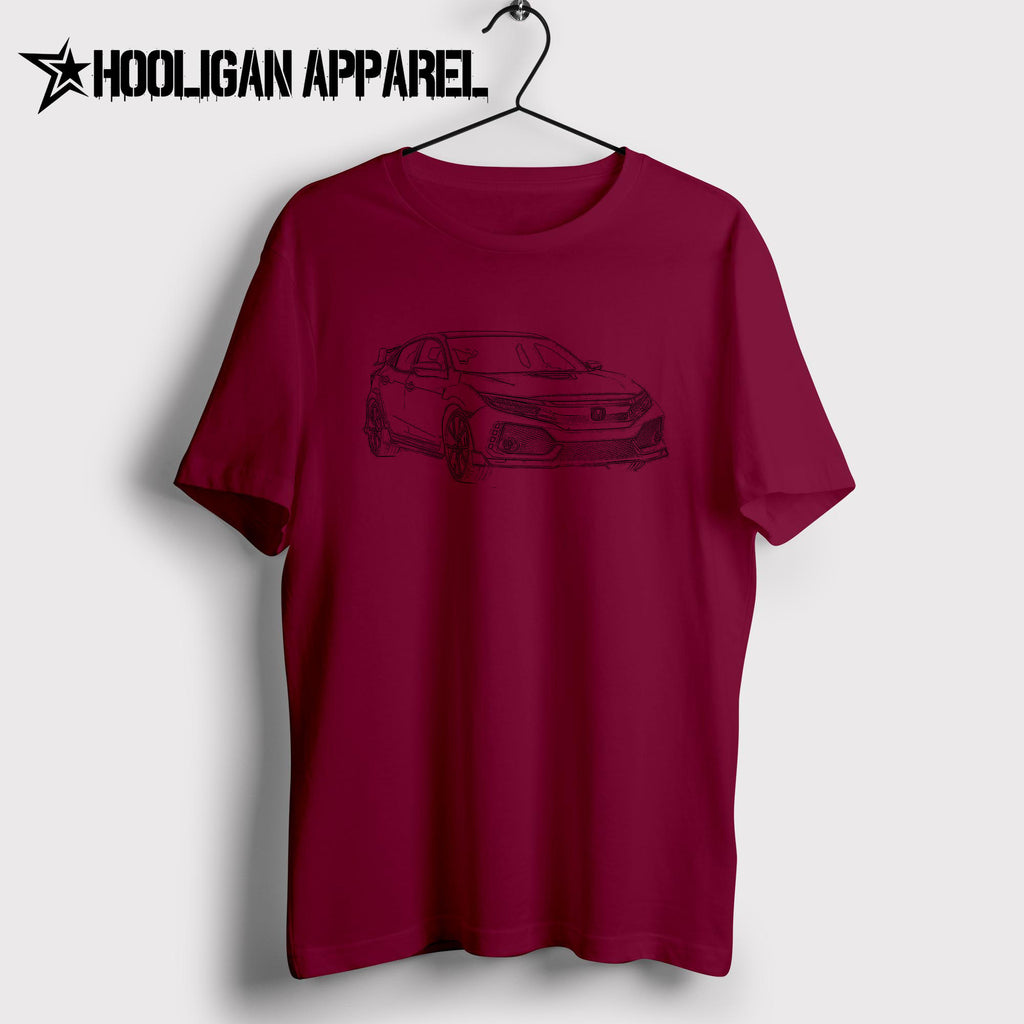 Honda Civic Type R 2017 Inspired Car Art Men S T Shirt Hooligan
