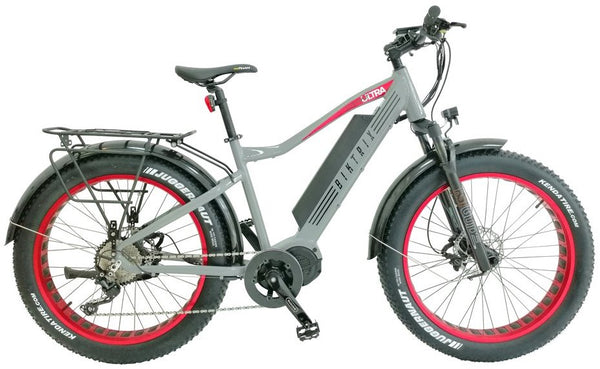 Biktrix Juggernaut Ultra 1000W Fat Tire Mid-Drive eBike Cement Grey Right Side