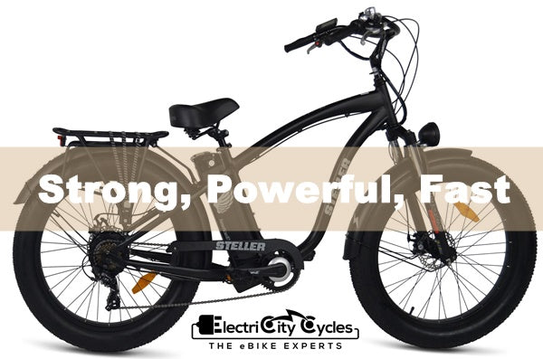 AmericanElectric Steller 750W 48V Fat Tire Step-Over Cruiser eBike Strong Powerful Fast