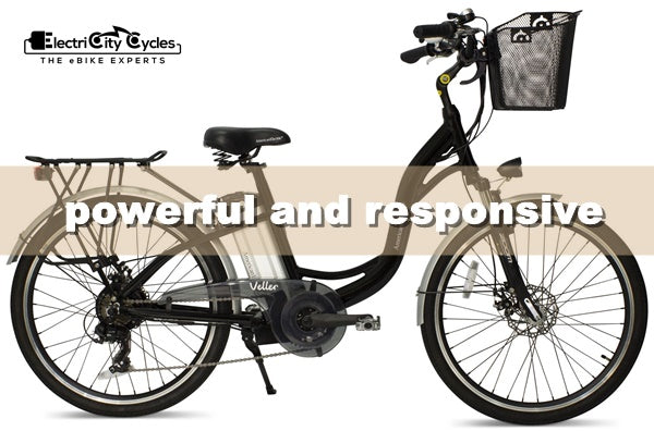 AmericanElectric Veller 350W 36V Step-Through Cruiser eBike Powerful and Responsive