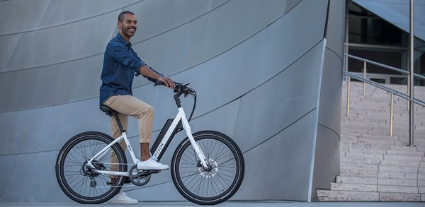 Aventon Pace 350 36V Step-Through Commuter Cruiser eBike Lifestyle
