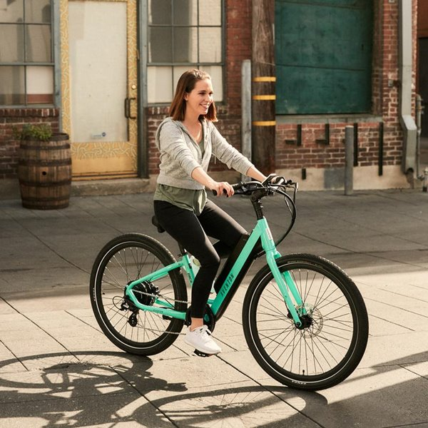 Aventon Pace 500 48V Step-Through Commuter Cruiser eBike Lifestyle