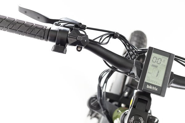 Biktrix Juggernaut Classic Fat Tire Mid-Drive eBike LCD Display