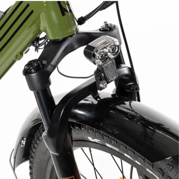 Biktrix Juggernaut Classic Fat Tire Mid-Drive eBike RST Guide Suspension