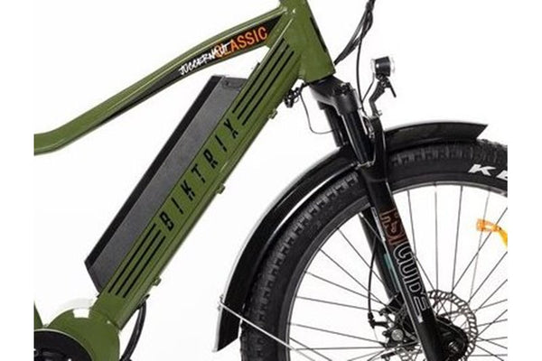 Biktrix Juggernaut Classic Fat Tire Mid Drive eBike Removable Battery