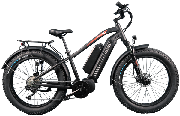 Biktrix Juggernaut HD Duo Fat Tire Mid-Drive eBike Black Right Side
