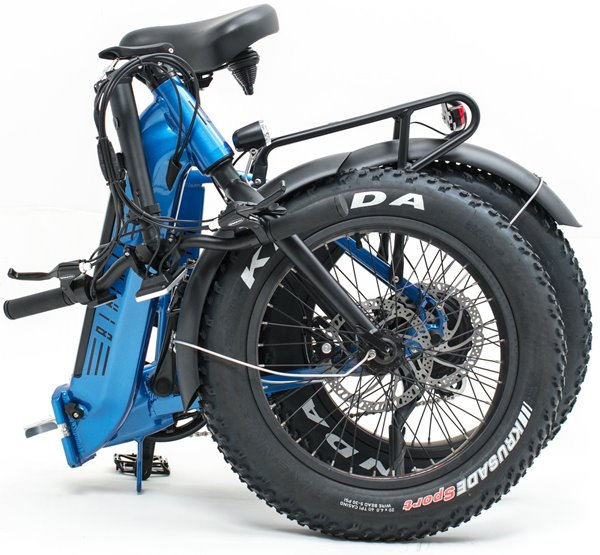 Biktrix Kutty LT 500W 48V Folding Fat Tire eBike Folded