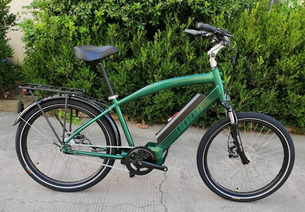 Biktrix Stunner 750W Cruiser Mid-Drive eBike Emerald Green Right Side