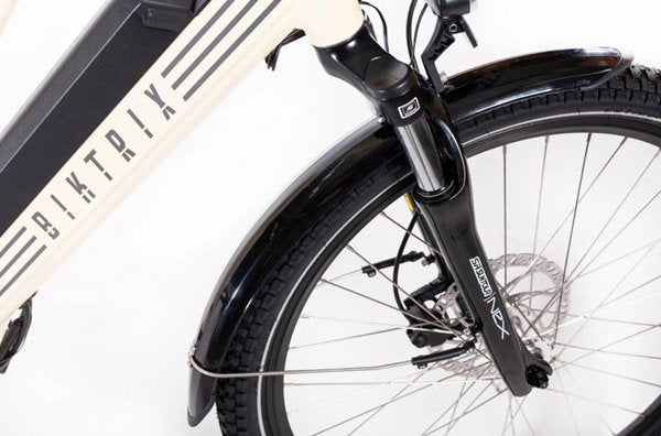 Biktrix Stunner 750W Cruiser Step-Through Mid-Drive eBike Front Suspension