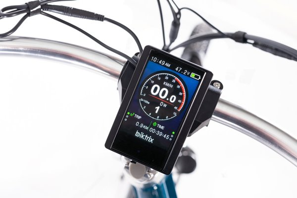 Biktrix Stunner 750W Cruiser Step-Through Mid Drive eBike LCD Display