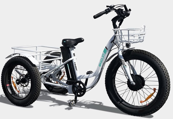 Emojo Caddy Fat Tire 500W 48V Electric Tricycle Right Side Angle
