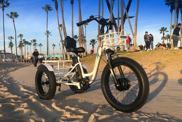 Emojo Caddy Pro Fat Tire 500W 48V Electric Tricycle Lifestyle