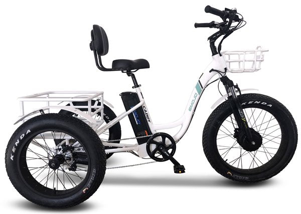 Emojo Caddy Pro Fat Tire 500W 48V Electric Tricycle Left Side