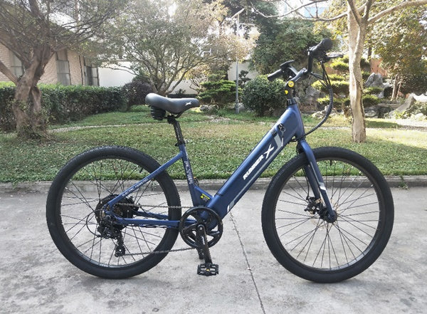 Emojo Runner X Flyer 500W 36V Cruiser Step-Through eBike Lifestyle