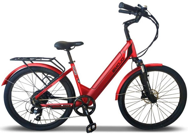 Emojo Panther Pro 500W 48V Hybrid Cruiser Step-Through eBike Matte Red Right Side