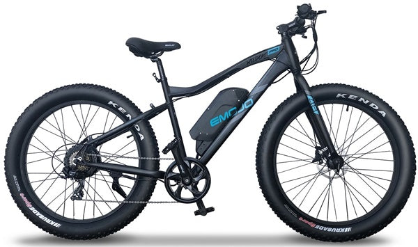 Emojo Wildcat Pro and Pro HD Fat Tire 48V 500W Mountain eBike Flat Black Right Side