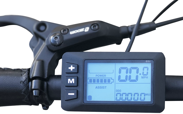 Emojo Wildcat Pro and Pro HD Fat Tire 48V 500W Mountain eBike LCD Display