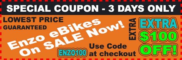 Enzo Folding eBike Sale $100 Off Lowest Price Online