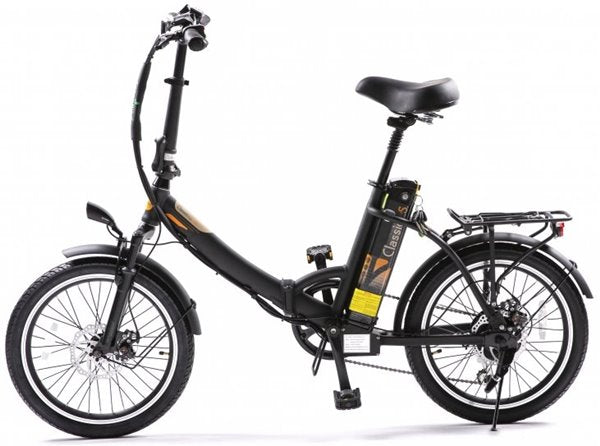 GreenBike - Electric Motion Classic LS 350W 36V Folding eBike Matte Black Left Side