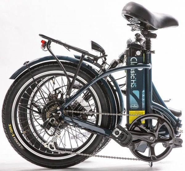 GreenBike - Electric Motion Classic LS 2021 Edition 350W 36V Folding eBike Dark Blue Folded