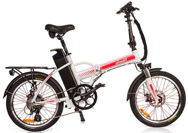 GreenBike - Electric Motion Alpha Speed GT 350W 48V Folding eBike White Right Side