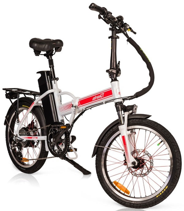 GreenBike - Electric Motion Alpha Speed GT 350W 48V Folding eBike White Right Side Angle