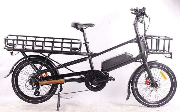 GreenBike - Electric Motion Cargo 500W 48V Mid Drive eBike Black Right Side