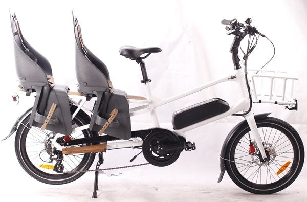 GreenBike - Electric Motion Cargo 500W 48V Mid Drive eBike Baby Chairs
