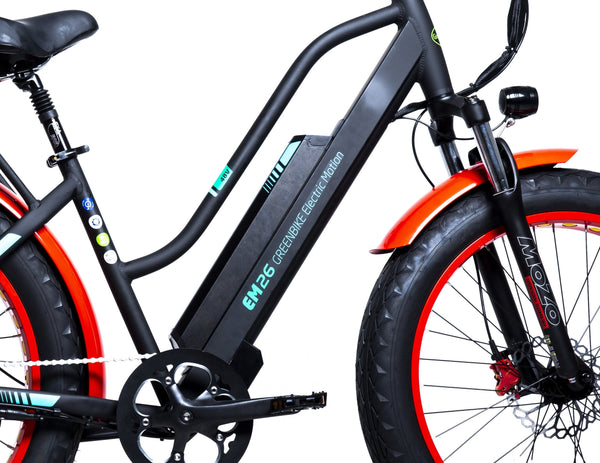 GreenBike - Electric Motion EM26 2021 Edition 750W 48V Fat Tire Step-Through Hybrid eBike Step-Through Frame