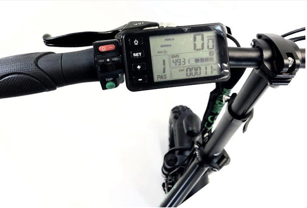 Green Bike USA GB5 Folding Commuter eBike LCD Display