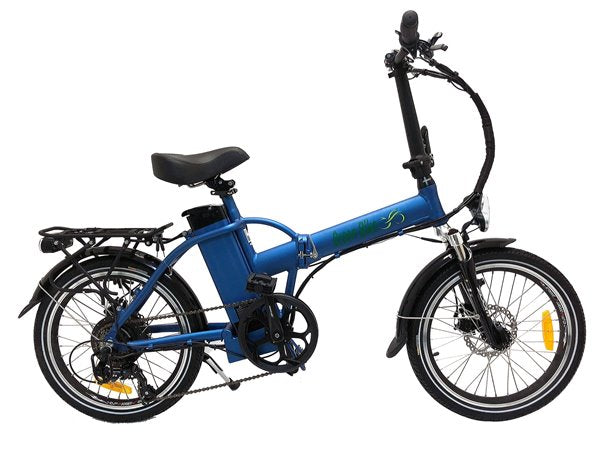 Green Bike USA GB1 Folding Commuter eBike Blue Right Side