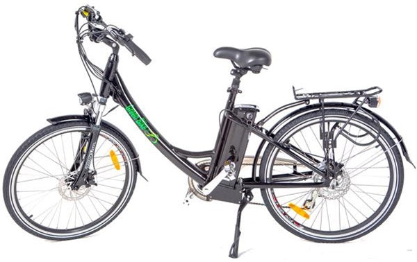 Green Bike USA GB2 Beach Cruiser Step-Through eBike Black Left Side