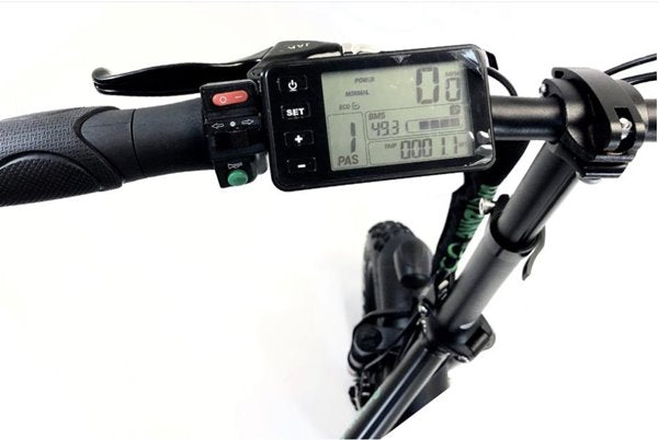 Green Bike USA GB500 Folding Commuter eBike LCD Display