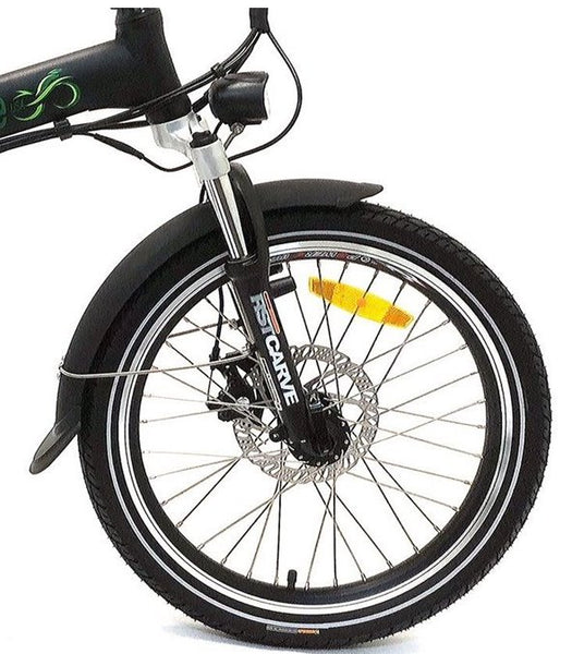 Green Bike USA GB500 Folding Commuter eBike Front Suspension