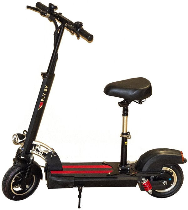 Green Bike USA GB Flyby 500W 48V Electric Scooter Left Side with Seat