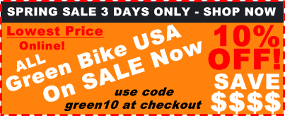 Green Bike USA Sale 10% Percent Off Lowest Price Online