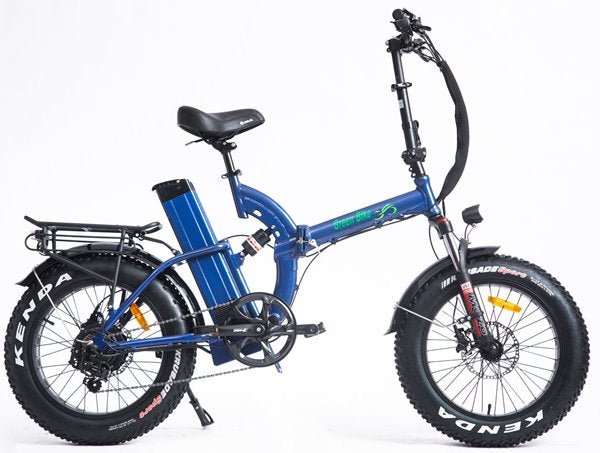 Green Bike USA GB750 Next Fat Tire Full Suspension Folding eBike Blue Right Side