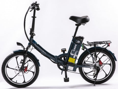 GreenBike - Electric Motion City Premium 2021 Edition 350W 48V Folding eBike Dark Blue Left Side