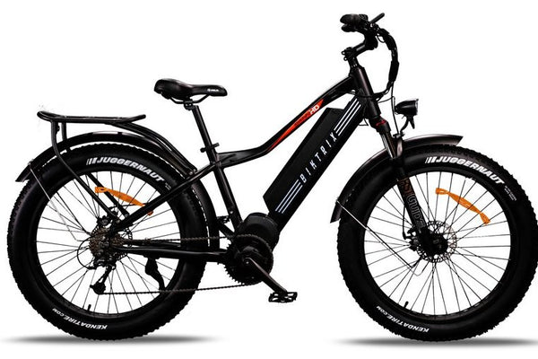 Biktrix Juggernaut Classic HD Fat Tire Mid Drive eBike Satin Black Right Side