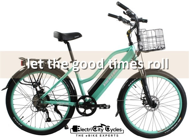 X-Treme Catalina 500W 48V Step-Through Cruiser eBike Let The Good Times Roll