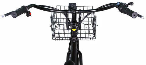 X-Treme Malibu Elite Step Through Beach Cruiser eBike Basket