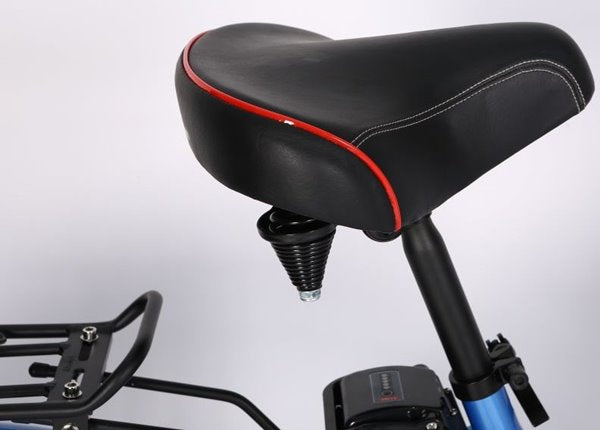 X-Treme Malibu Elite Step-Through Beach Cruiser eBike Comfortable Seat