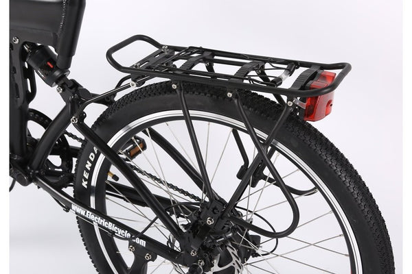 X-Treme X-Cursion Elite Max 36 Volt Folding Full Suspension Mountain eBike Rear Rack and Light