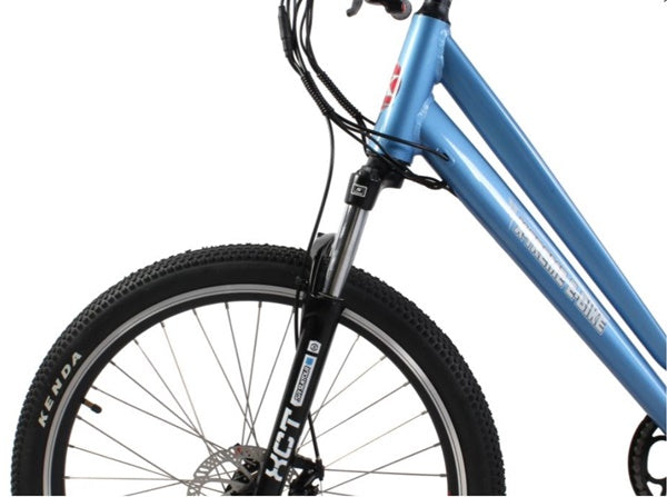 X-Treme Trail Climber Elite Max 350W 36V Step-Through Commuter Mountain eBike Front Suspension Fork
