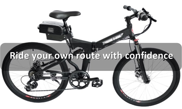 X-Treme XC-36 350W 36V Folding Full Suspension Mountain eBike Ride your own route