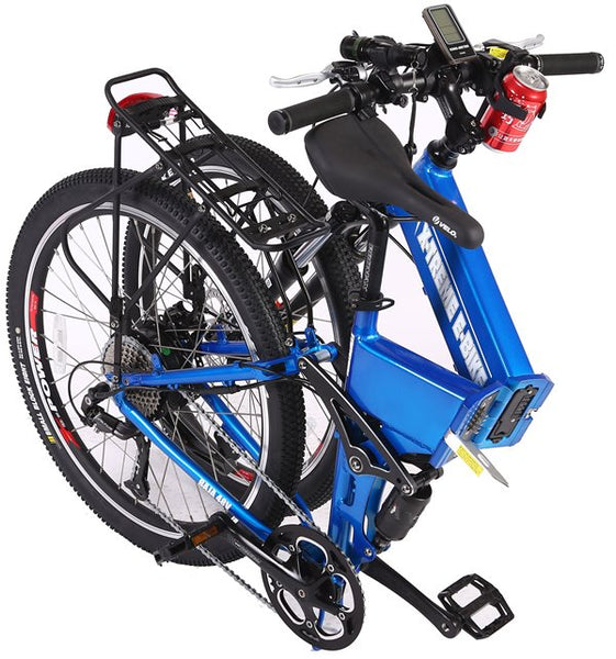 X-Treme Baja 48V 500W Folding Full Suspension Mountain eBike Folded