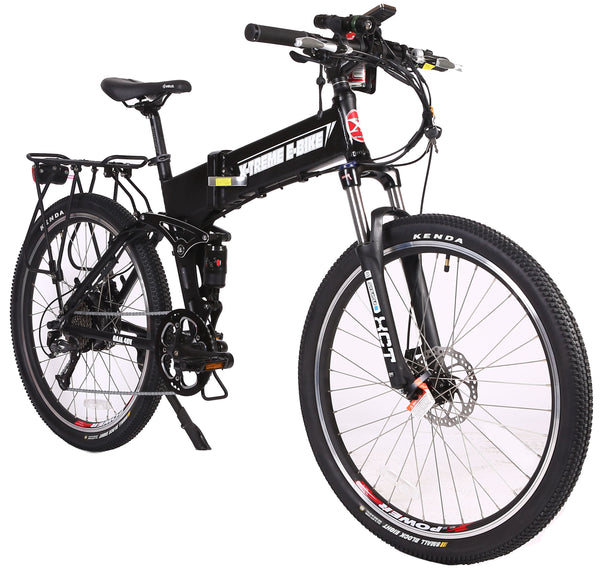 X-Treme Baja 48V 500W Folding Full Suspension Mountain eBike Right Side Angle